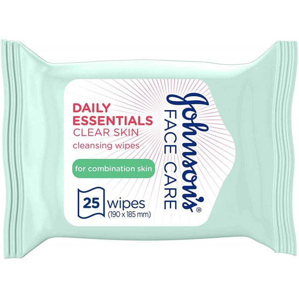 JOHNSON'S® Daily Essentials Facial Wipes Clear Skin 25 (Green)