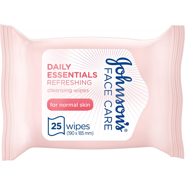 JOHNSON'S® Daily Essentials Facial Wipes Moisturising 25 (Blue)
