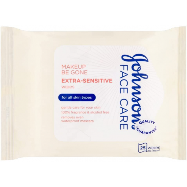 JOHNSON'S® Daily Essentials Facial Wipes Extra Sensitive 25 (Cream)