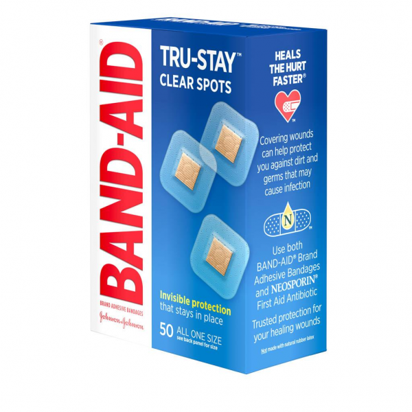 Band-Aid Brand Adhesive Bandages Clear Spots 40s