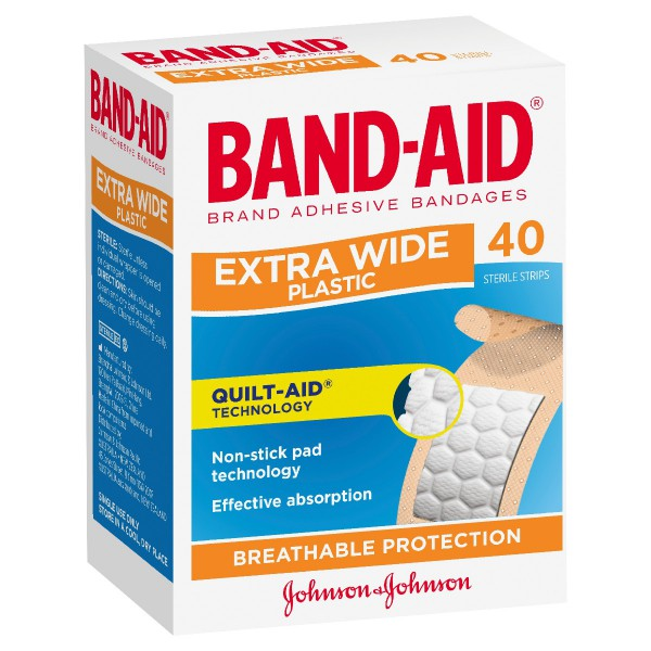 BAND-AID® Brand Adhesive Strips Extra Wide 40
