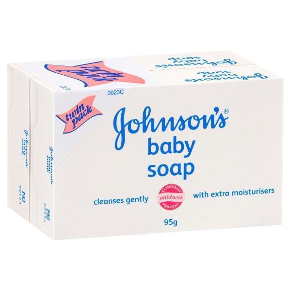 JOHNSON'S Baby Soap Twin Pk 2x95g