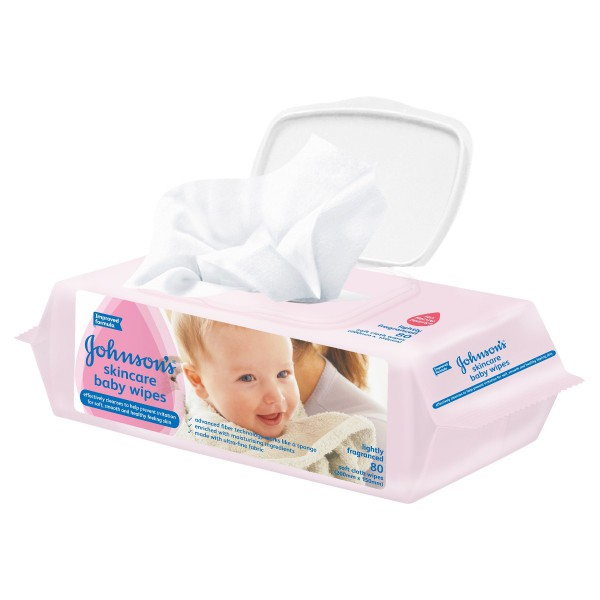 JOHNSON'S® Baby Wipes Skincare Ltly Scntd 80
