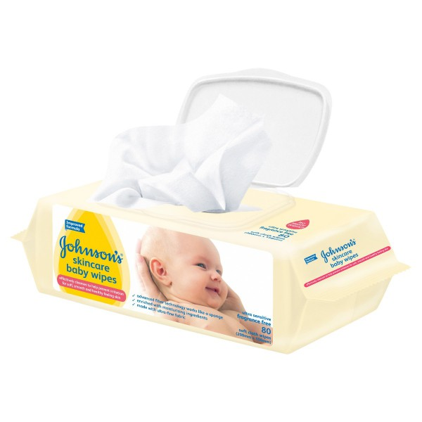 JOHNSON'S® Baby Wipes Skincare F/F 80
