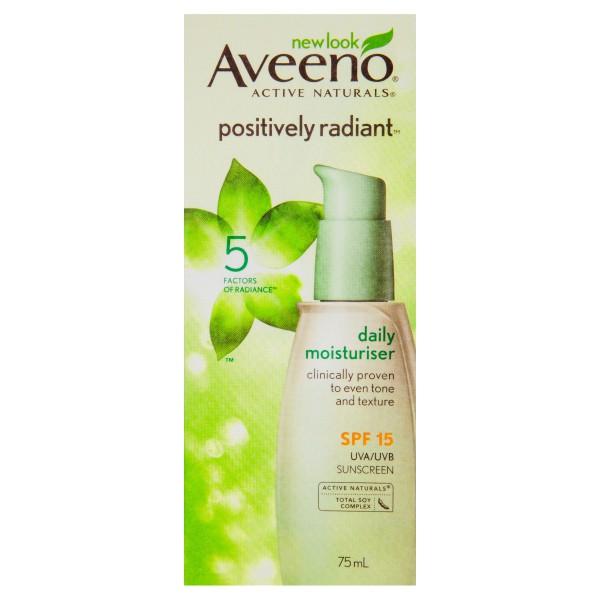 AVEENO® Positively Radiant Daily Moisturising SPF15 75mL