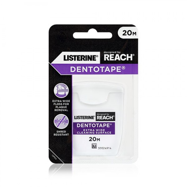 Listerine Reach Dentotape Waxed 20m (Bundle of 6)